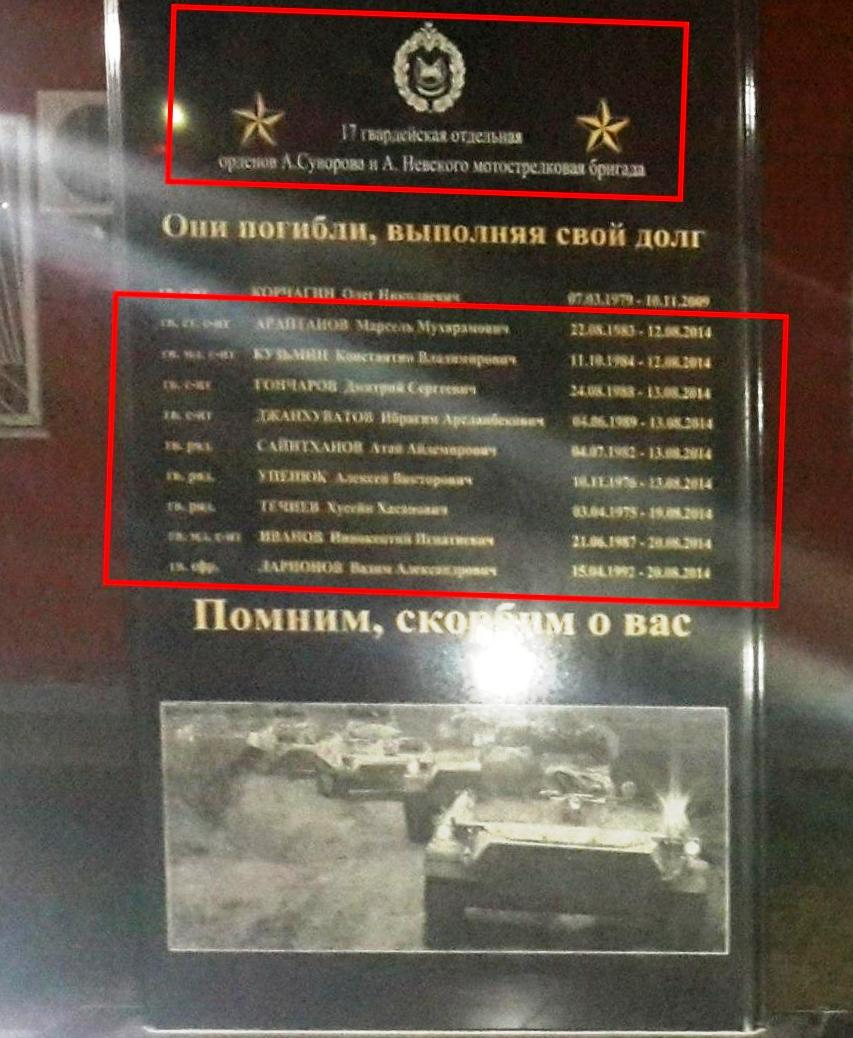 Памятник погибшим военным