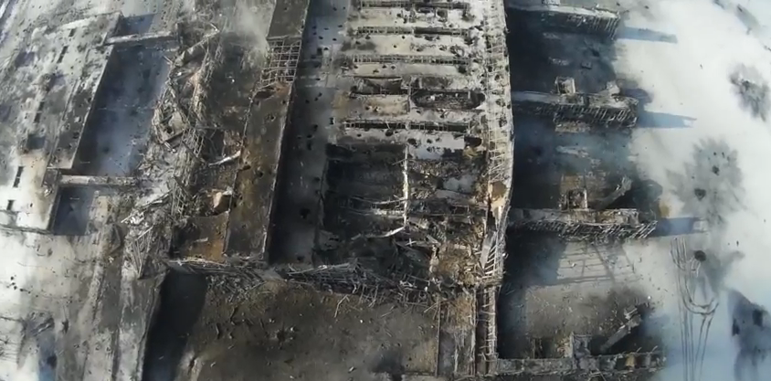 Донецкий аэропорт 15.01.2014