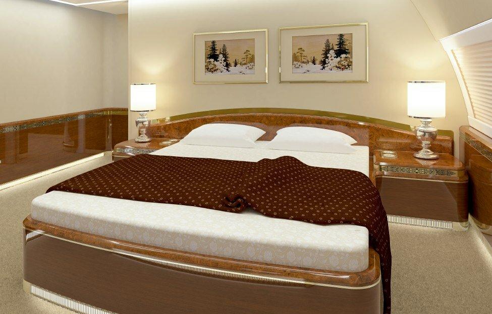 Двухспальная кровать на президентском ИЛ-96-300