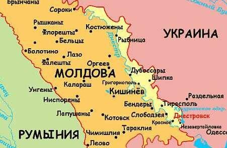 Карта Приднестровья
