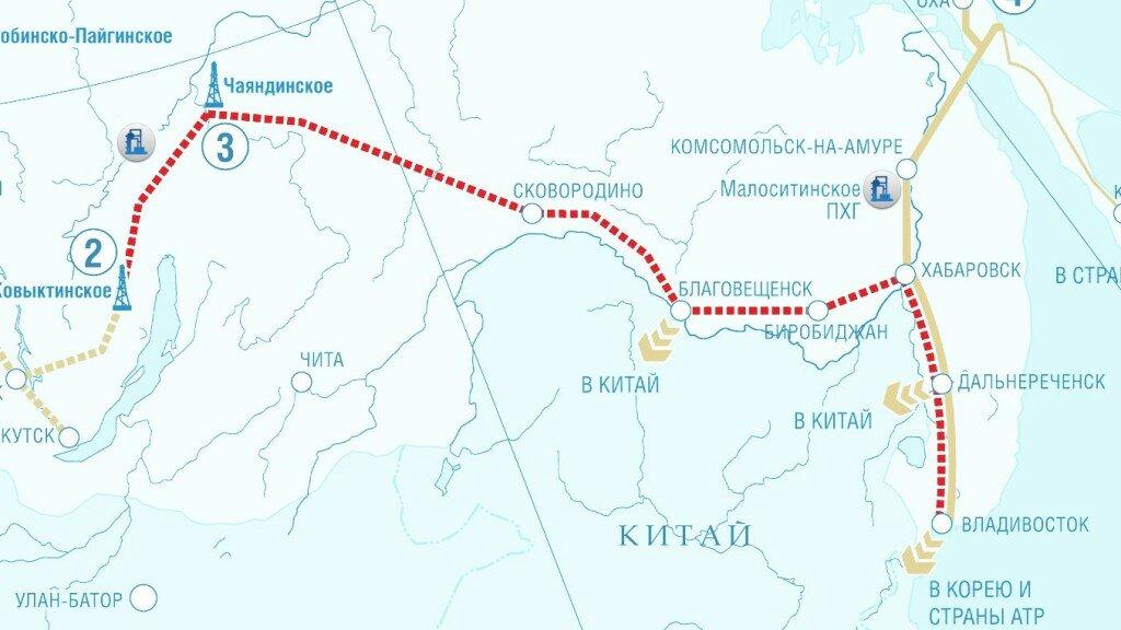 "Схема газопровода ""Сила Сибири"""