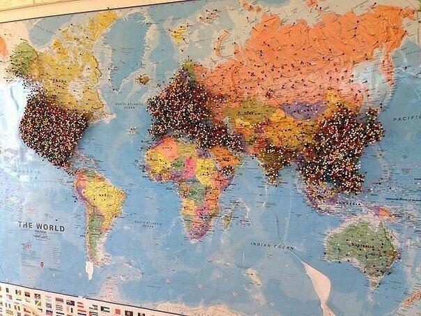 Карта путешественников