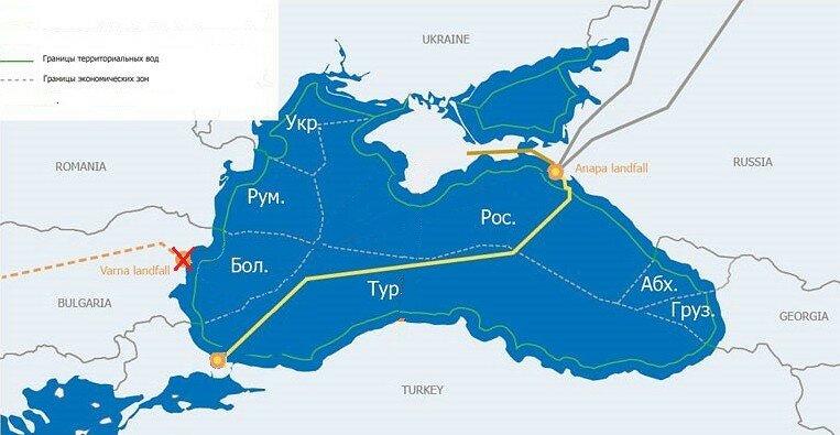 """Газопровод """"Турецкий поток"""", карта"""