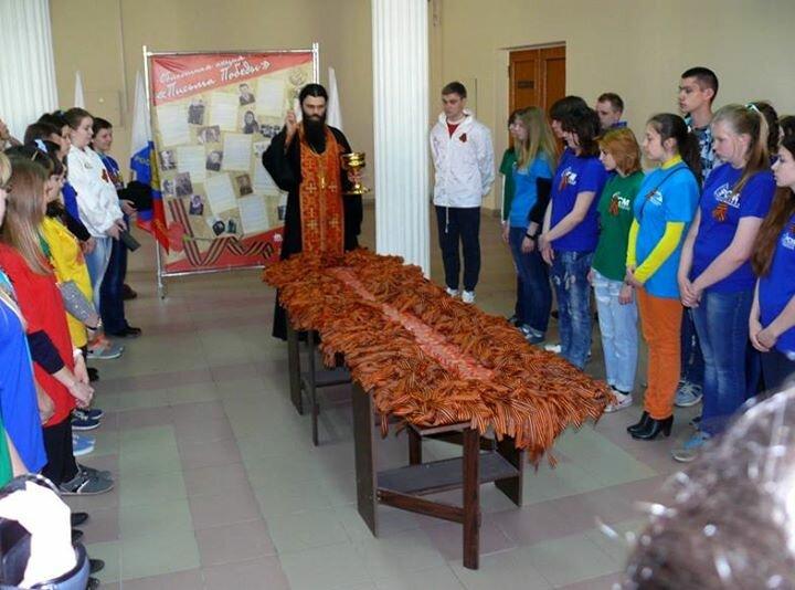 Георгиевские ленточки крестят крупнооптовыми партиями