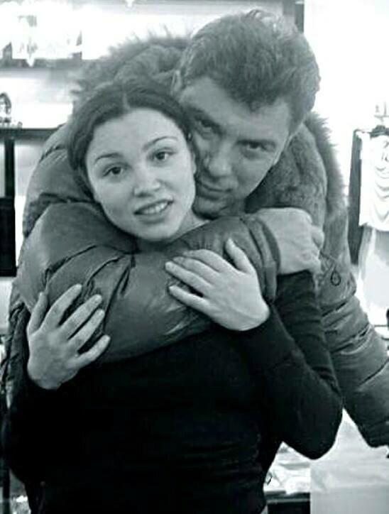 Борис Немцов с дочерью Жанной, фото