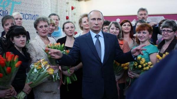 Владимир Путин на «Вологодском текстиле», май 2013г.