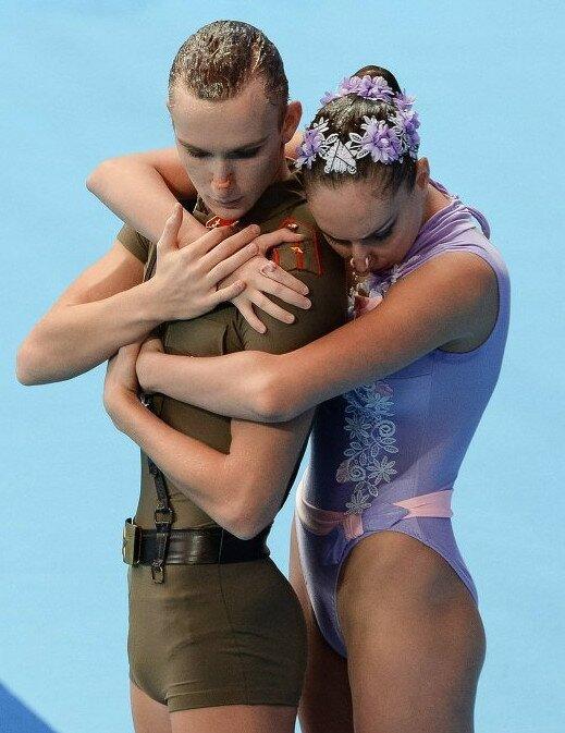 Российские синхронисты Александр Мальцев и Дарина  Валитова сделали ставку на костюм в форме советского солдата