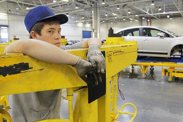 На заводе концерна Peugeot-Citroen в Калужской области