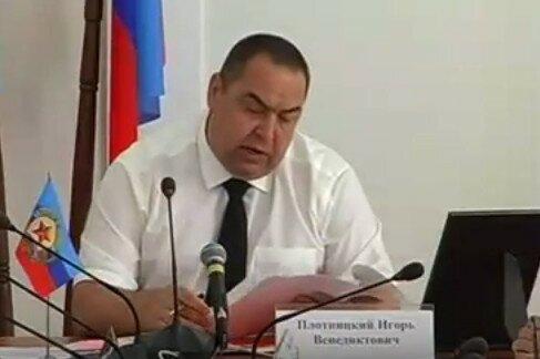 Глава непризнанной ЛНР Плотницкий Игорь Венедиктович