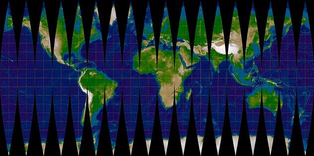 Карта мира в реальном размере