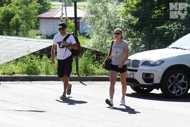 Фото: Оле-Эйнар Бьорндален и Дарья Домрачева