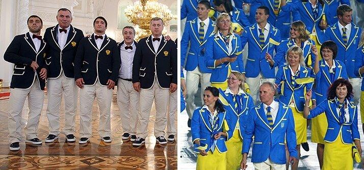 Фото: форма олимпийцев России 2016 и Украины 2008