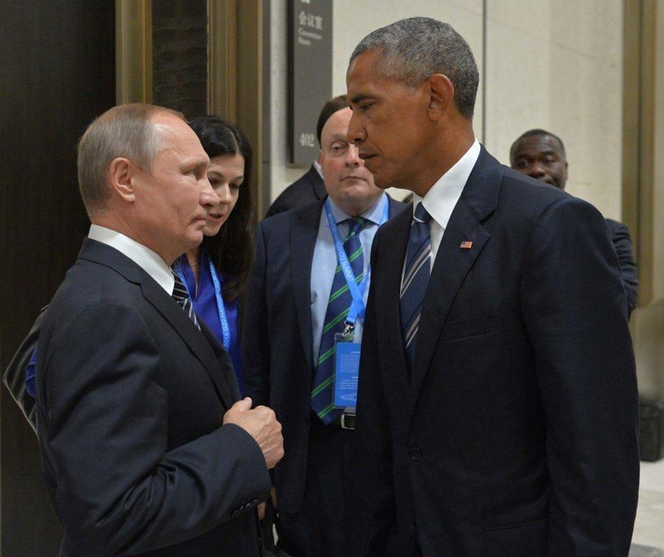 Путин против Обамы, фото