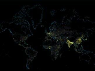 Средняя плотность населения в мире - новая карта