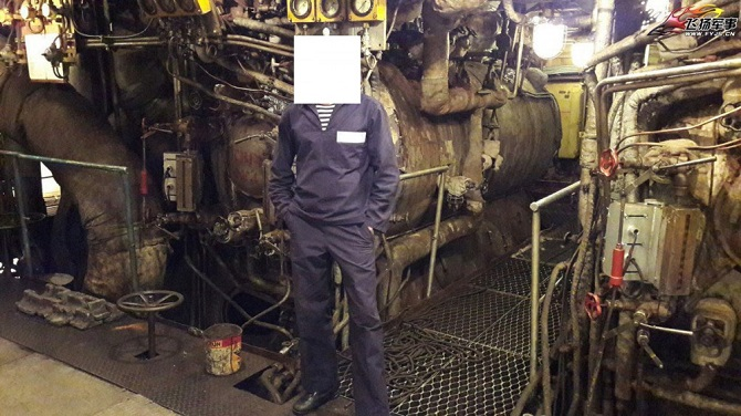 """В машинном отделении авианосца """"Адмирал Кузнецов"""""""